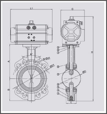 pneumatic-actuator-butterfly-valve